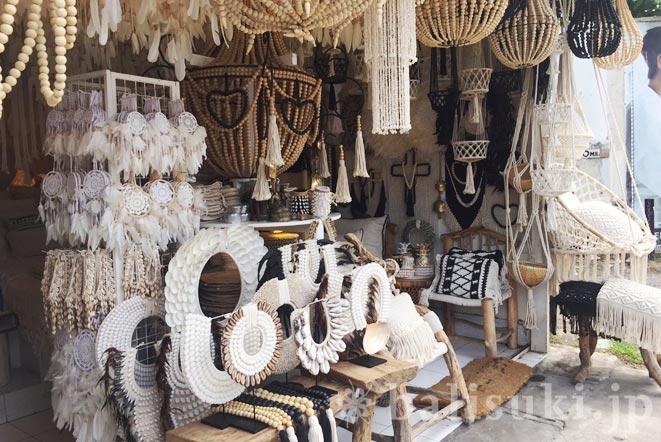 バリ島スミニャックのマクラメ雑貨店Azka homewear