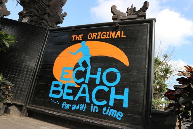 バリ島エコビーチの看板