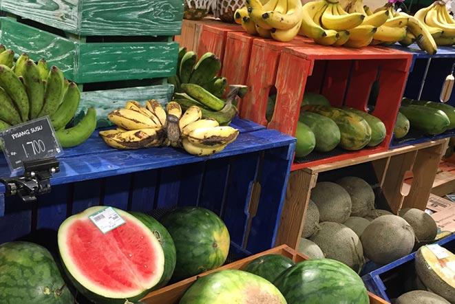 バリ島「ペピト(pepito)」スーパーマーケットの果物売り場